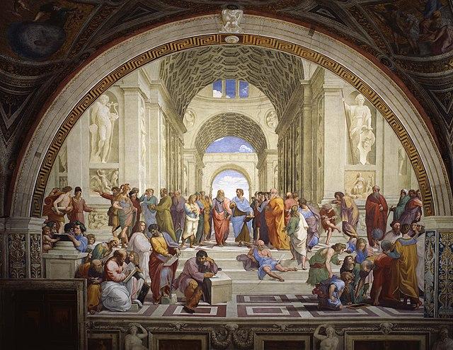 אסכולת אתונה,אחד הציורים המפורסמים המפורסמים ביותר במוזיאון הנמצא ב