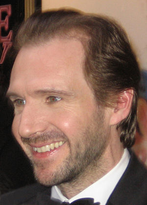 British actor Ralph Fiennes, leaving the Booth...