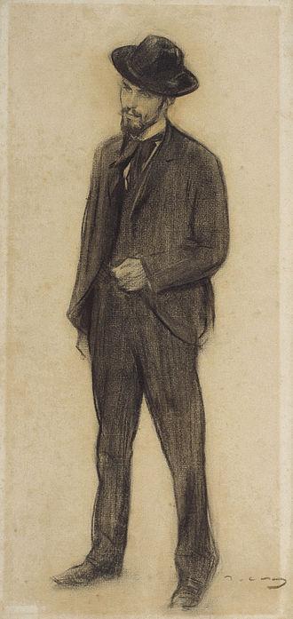 Joaquín Torres-García - Ramon Casas, Portrait of Joaquín Torres García, Museu Nacional d'Art de Catalunya