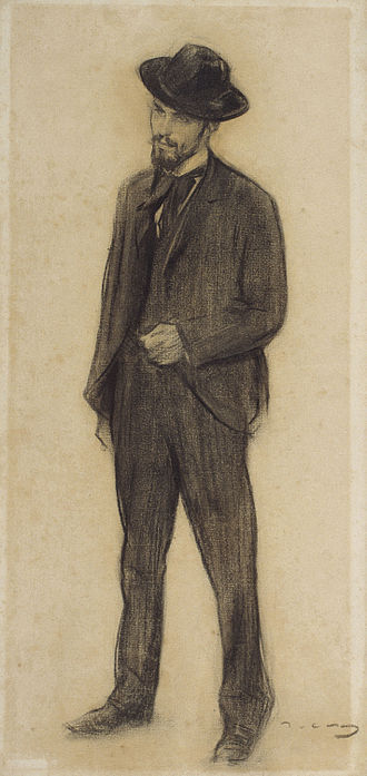 Joaquín Torres-García - by Ramon Casas (MNAC).