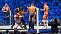 Randy Orton, The Big Show and Sheamus v Daniel Bryan, Mark Henry and Cody Rhodes at Smackdown taping in London 17th April 2012 (7282767214).jpg