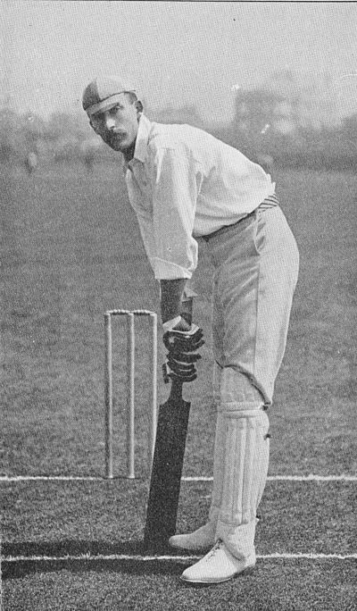 Ranji 1897 page 157 L. C. H. Palairet at the wicket - a model position.jpg