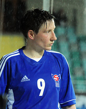 Rannvá Andreasen - Playing for the Faroe Islands in October 2013