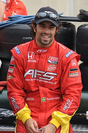 Raphael Matos - Raphael Matos at the Indianapolis Motor Speedway on the first day of qualifying for the 2011 500