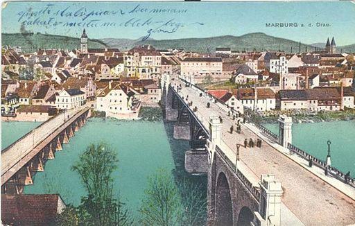 Razglednica Maribora 1918 (2)