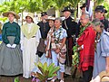 Re-enactors and presiders at the dedication ceremony for the grave marker of J. R. Kealoha.jpg