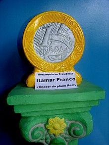 Moneta monumento di Itamar Franco.