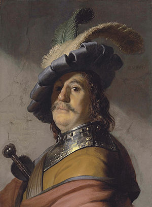4896d18ccfc0c Bust of a Man Wearing a Gorget and Plumed Beret - WikiVisually