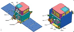 Render of Hyperspectral Imaging Satellite (HySIS) in stowed and deployed configuration 01.jpg