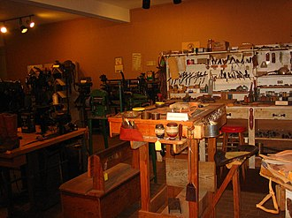 Charles Weldon Cannon - Replica of Cannon Saddle Shop at National Ranching Heritage Center