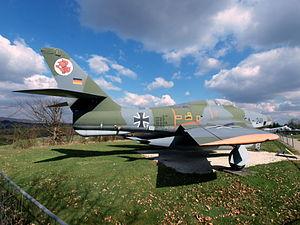 Republic RF-84F-25-RE Thunderflash German Air Force - Luftwaffe EB+341 EA+241 cn 52-7377.JPG