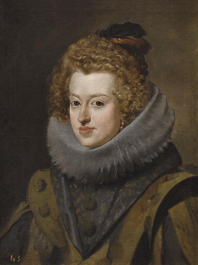Retrato de la emperatriz María Ana de Austria (1606-1646), por Velázquez