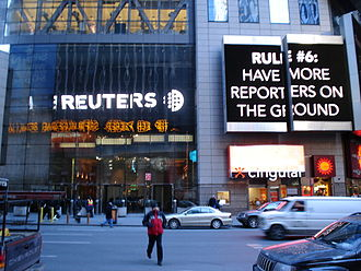 Reuters - Reuters building entrance in New York City