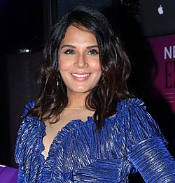 Richa Chadha at the launch of the Shakeela 2019 Calendar.jpg