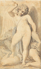 Cupid Overpowering a Satyr