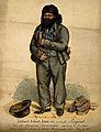 Richard Robert Jones, a self taught linguist. Coloured etchi Wellcome V0007153.jpg