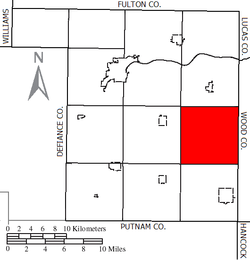Location of Richfield Township in Henry County