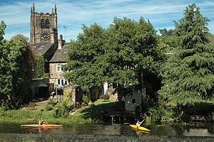 River Aire - Image: River Aire at Bingley