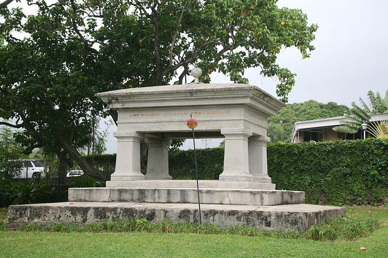 File:Robert C. Wyllie tomb - Royal Mausoleum, Honolulu, HI.jpg