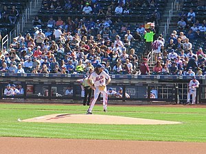 Robert Gsellman Pitching For The New York Mets