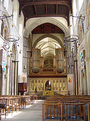 Interior of Rochester Cathedral, Kent