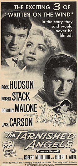 Rock Hudson, Dorothy Malone and Robert Stack in 'The Tarnished Angels'.jpg