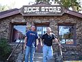 Rock Store sign with two guys on steps.jpg