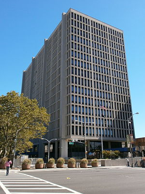 Government Center, Newark - Broad Street entrance of building named for Congressman Peter W. Rodino