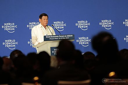 Duterte speaking at the World Economic Forum in Phnom Penh, Cambodia, May 11, 2017 Rodrigo Duterte at WEF Forum, Phnom Penh (2017-05-11).jpg