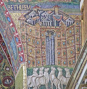 Triomphal Arch Mosaics in the Basilica of Sant...