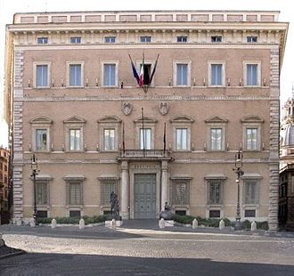 Province of Rome (1870–2014) - Palazzo Valentini in Rome, the provincial seat.