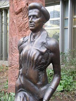 A statue of Rosa Luxemburg, Berlin