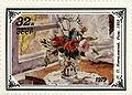 Roses by Pyotr Konchalovsky 1979 USSR Stamp.jpg