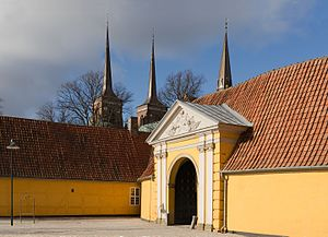 image of Roskilde Palace towers domkirke Denmark