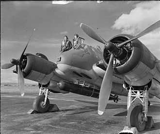 British 18 inch torpedo - A Mark XII torpedo fitted to a Bristol Beaufighter