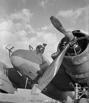 "AI Mk. IV radar - Group Captain ""Paddy"" Green achieved most of his 11 confirmed kills in this Mk. IV-equipped Beaufighter."