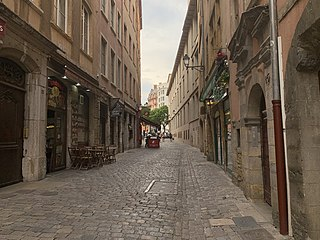 street in the 5th arrondissement of Lyon, France