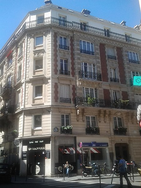 File rue du d me 1 1 paris 16e maison o est for Maison du the paris