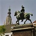 Ruiterstandbeeld van Willem III, linker achterzijde - Breda - 20362405 - RCE.jpg