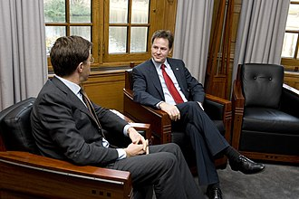 Nick Clegg - Nick Clegg with the Prime Minister of the Netherlands Mark Rutte on 15 November 2010
