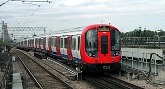 Hammersmith & City line - S7 Stock leaving West Ham station