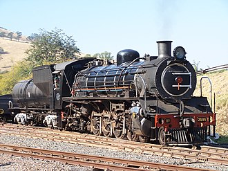 South African Class 19D 4-8-2 - Umgeni Steam Railway's no. 2685, 30 July 2006