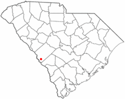Location of Jackson, South Carolina