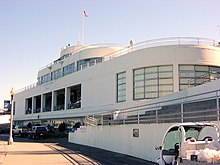 Bather's building, now a Maritime Museum at San Francisco's Aquatic Park, 1937, evokes a streamlined double–ended ferryboat