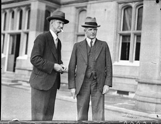 Michael Bruxner - Bruxner with Reginald Weaver, Minister for Public Works and Health, in 1935.