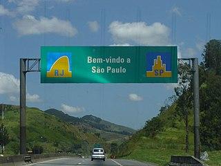 Rodovia Presidente Dutra highway in Brazil
