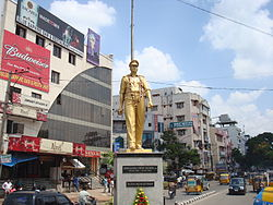 Umesh Chandra statue at SR nagar junction