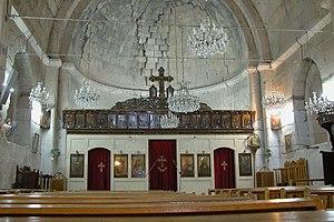 Safita - St. Michael's Chapel on the ground floor of Chastel Blanc.