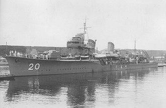 Japanese destroyer Sagiri - Sagiri in 1940
