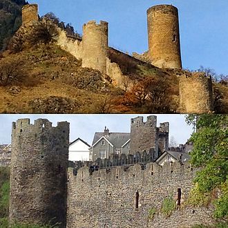 James of Saint George - Comparison of Saillon and Conwy town walls